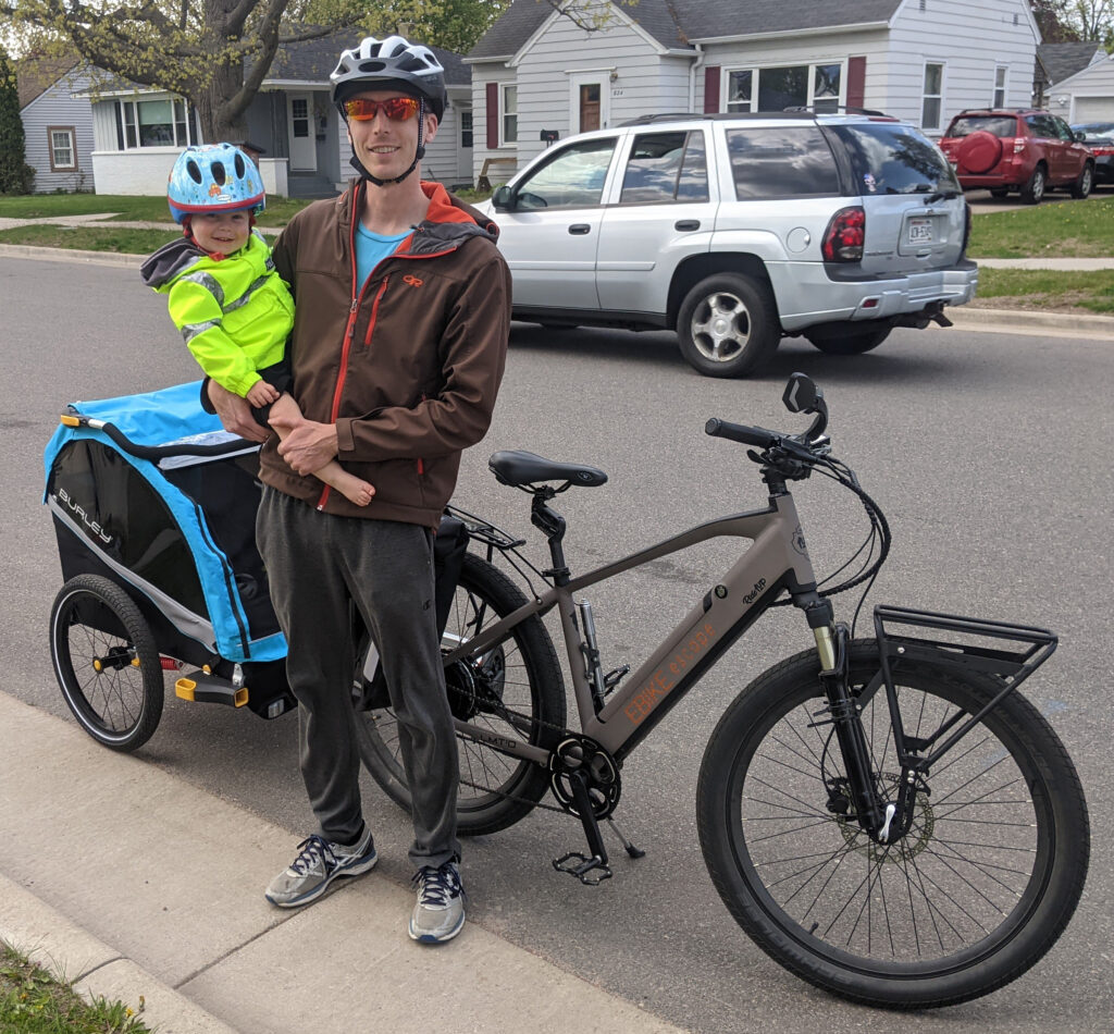 Burley D'Lite X Hitched to Ebike